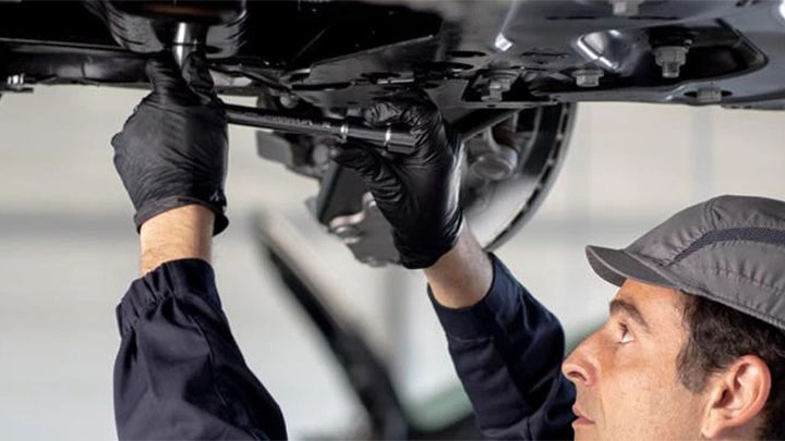 technician completing repair