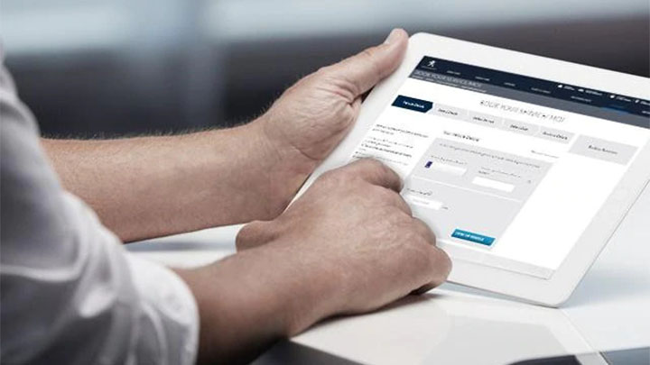 peugeot service being booked online