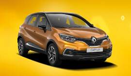 Orange Renault Captur Iconic