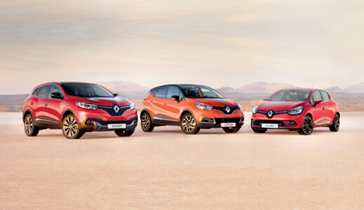 Three Red Renaults