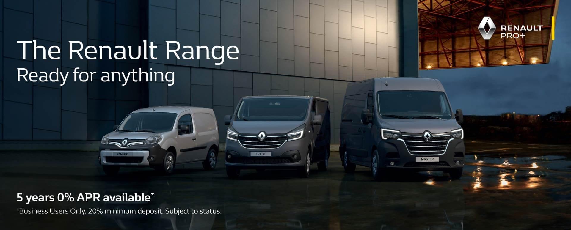 Renault Van Range - 0% APR Finance