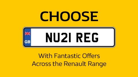 Choose Your NU21 Reg Renault