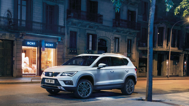 SEAT Ateca in white