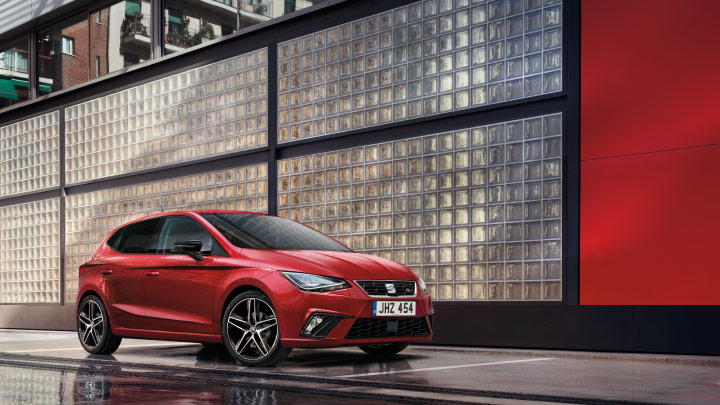 SEAT Ibiza in red