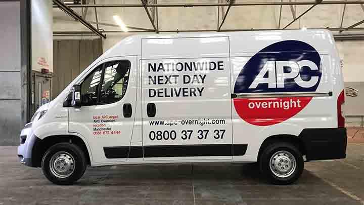 van with APC overnight graphics