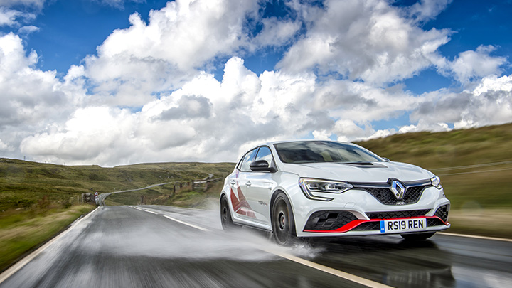 Renault Megane RS on the road