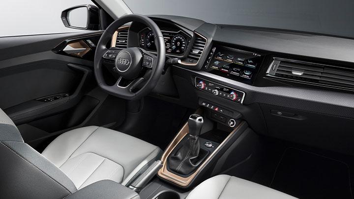 Grey Audi A1, interior shot