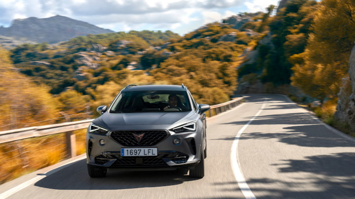 Grey CUPRA Formentor Driving Front