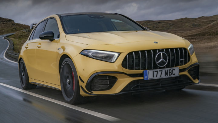 Used Mercedes-AMG A-Class A45 S Driving, Front