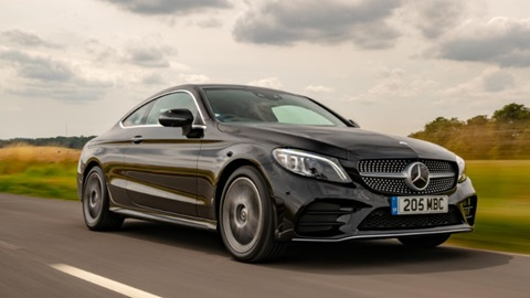 Used Mercedes-Benz C-Class Coupe Driving