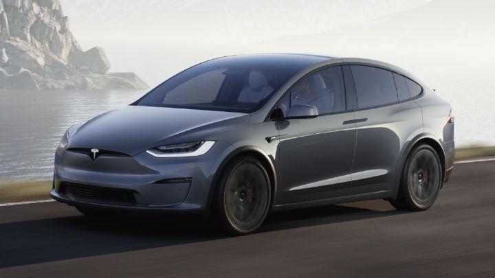 Grey Tesla Model X