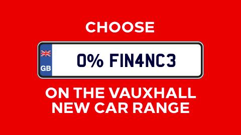 Vauxhall New Car 0% Finance