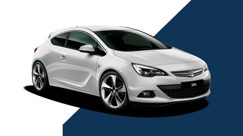 white vauxhall astra gtc