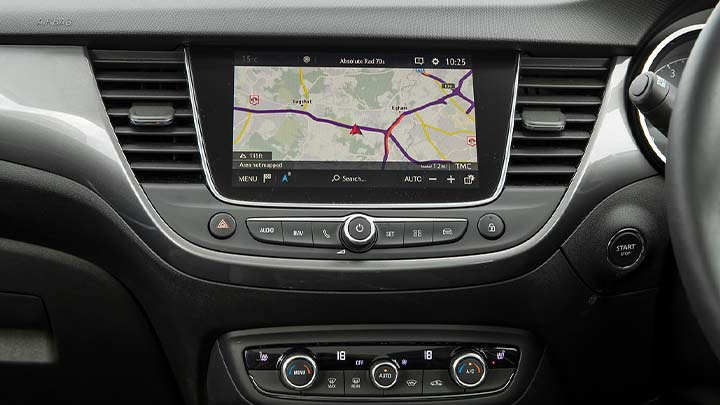 vauxhall crossland x, infotainment screen