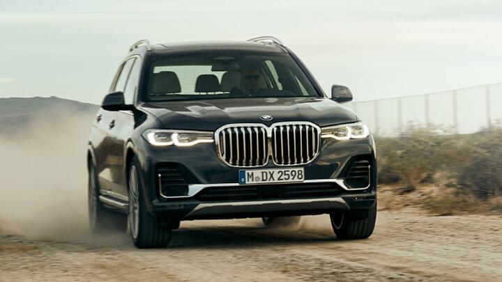 BMW X7 Exterior, Driving
