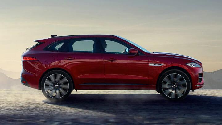 Jaguar F-PACE Side Profile, Driving