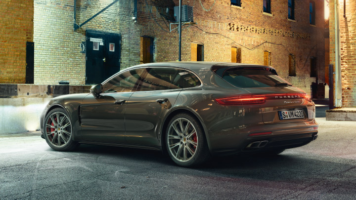 Porsche Panamera on the road.